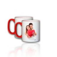 Customised Mug- Colored Rim Handle Mug (Red)