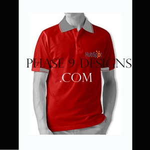Customized Collar Tshirt (Red- Design-9)
