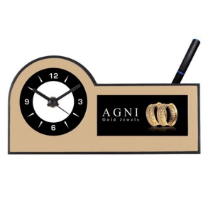 Customized Pen Holder With Clock- NB91109