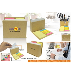 Customized Eco Notepad With Sticky Notes- 98139