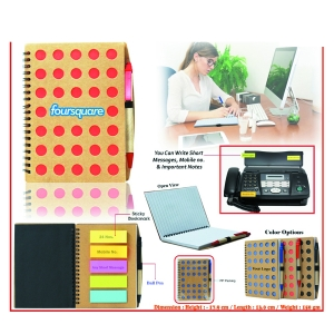Customized Eco Notepad With Sticky Notes- 98149