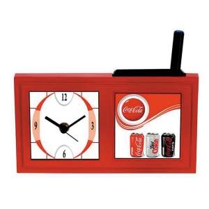 Customized Pen Holder With Clock- NB9589
