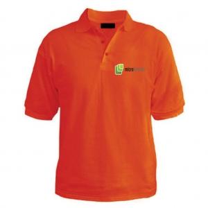 Customized Collar Tshirt (Orange)