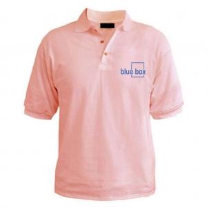 Customized Collar Tshirt (L.Pink)