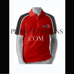 Customized Collar Tshirt (Red- Design-11)