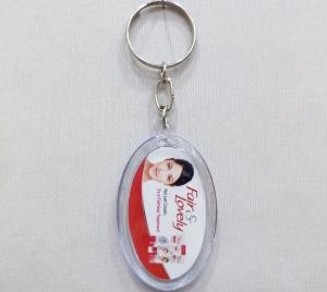 Logo Clear Plastic Keychain- 5