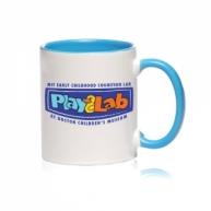 Customized Mug -Color Inside & Handle Color Mug (Light Blue)