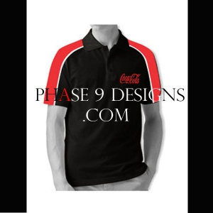Customized Collar Tshirt (Black- Design-16)