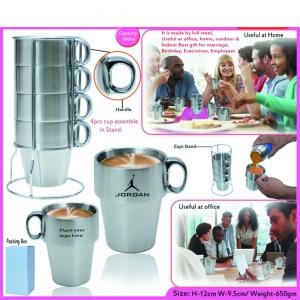 Customized Steel Mug Set- 97049