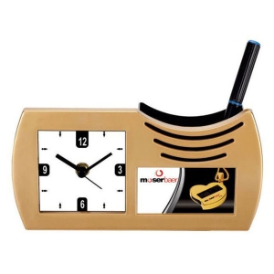 Customized Pen Holder With Clock- NB9559