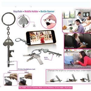 Customised Keychain with Mobile Holder 95139