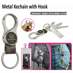 Customized Metal Keychain with hook (Round- 9512)