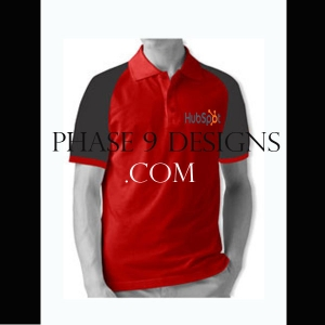 Customized Collar Tshirt (Red- Design-6)