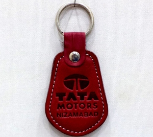 Customized Leather Keychain- 911