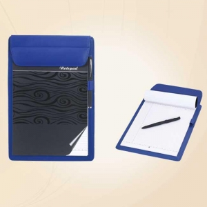 Leather Notepad Holder (Blue)