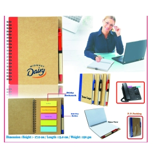 Customized Eco Notepad With Sticky Notes- 98159