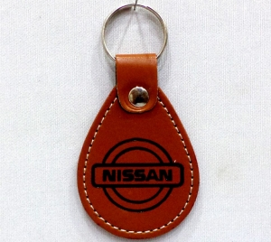 Logo Leather Keychain 1