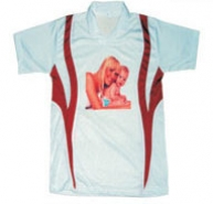 Sub Collared Photo Tshirt (White-Red)