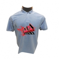 Customized Multicolor Polo Tshirt (Light Blue)