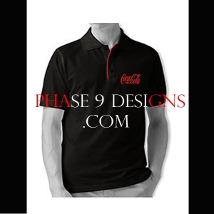 Customized Collar Tshirt (Black- Design-12)