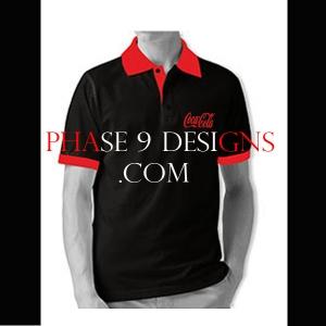 Customized Collar Tshirt (Black- Design-8)
