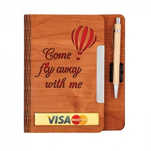 Customized Wooden Diary- 911