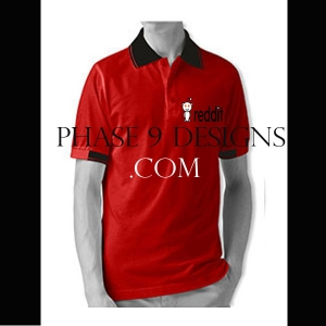 Customized Collar Tshirt (Red- Design-3)