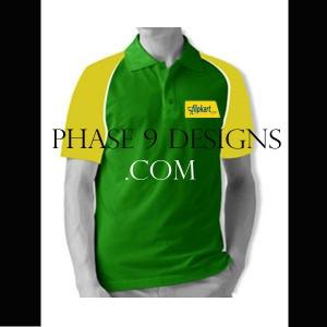 Customized Collar Tshirt (Green- Design-15)