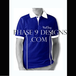 Customized Collar Tshirt (R.Blue- Design-5)