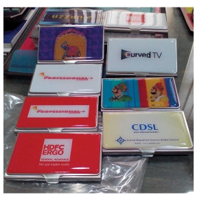 Multicolor Biz Card Holder (3D)
