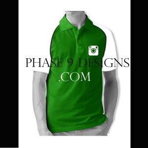 Customized Collar Tshirt (Green- Design-10)
