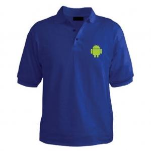 Customized Collar Tshirt (Royal Blue)