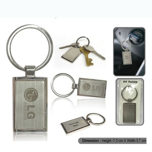 Metal Keychain (Rectangular) 0501