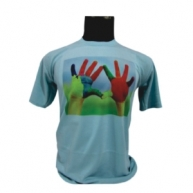 Customized Multicolor Printed Tshirt (Blue)