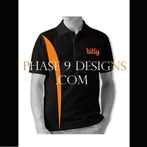 Customized Collar Tshirt (Black- Design-2)