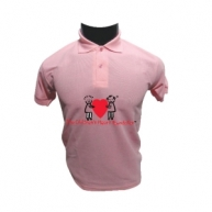 Customized Multicolor Polo Tshirt (Pink)