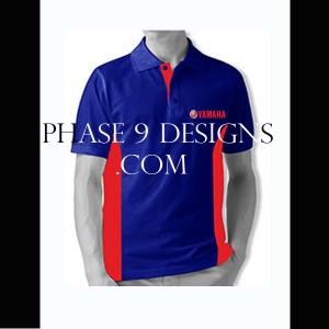 Customized Collar Tshirt (R.Blue- Design-4)