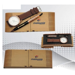 Customized Wooden Pen / Watch Set- 913