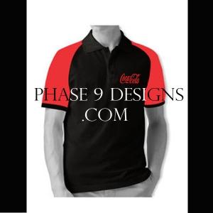 Customized Collar Tshirt (Black- Design-15)