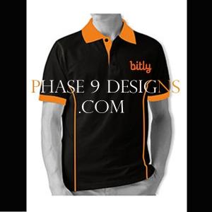Customized Collar Tshirt (Black- Design-1)