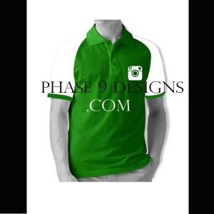 Customized Collar Tshirt (Green- Design-11)