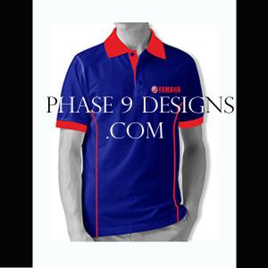 Customized Collar Tshirt (R.Blue- Design-1)