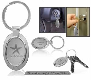 Customized Metal Keychain (Oval- 9509)
