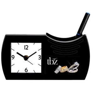 Customized Pen Holder With Clock- NB9569