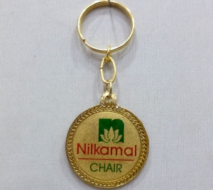 Logo Metal Colored Keychain 8