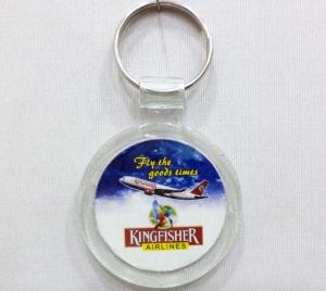 Logo Clear Plastic Keychain- 15