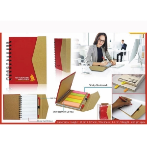Customized Eco Notepad With Sticky Notes- 98099
