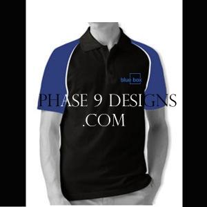 Customized Collar Tshirt (Black- Design-23)