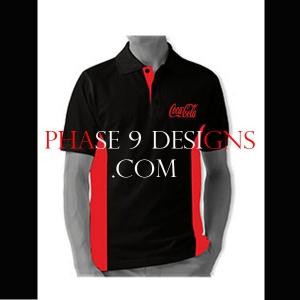 Customized Collar Tshirt (Black- Design-13)