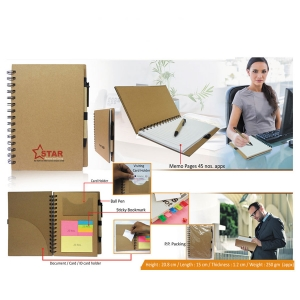 Customized Eco Notepad With Sticky Notes- 98119